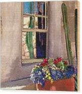Arizona Window Wood Print