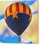 Arizonia Hot Air Balloon Special Wood Print