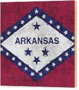 Arkansas Flag Wood Print