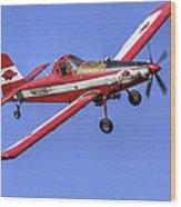 Arkansas Razorbacks Air Tractor Wood Print