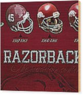 Arkansas Razorbacks Football Panorama Wood Print by Retro Images Archive