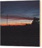 Arkansas Winter Sunset Wood Print