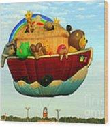 Arky Hot Air Balloon Wood Print