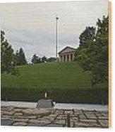 Arlington Cemetery Eternal Flame Wood Print
