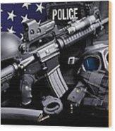 Arlington County Police Wood Print