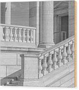Arlington Memorial Amphitheater  Bw Wood Print