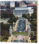 Arlington Memorial Bridge Leads Wood Print