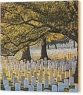 Arlington National Cemetery Washington Dc Wood Print