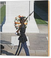 Arlington National Cemetery - Tomb Of The Unknown Soldier - 121210 Wood Print by DC Photographer