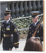 Arlington National Cemetery - Tomb Of The Unknown Soldier - 121223 Wood Print by DC Photographer