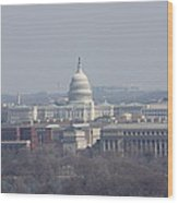 Arlington National Cemetery - View From Arlington House - 12124 Wood Print by DC Photographer