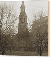 Arlington Street Church Unitarian Universalist Boston Massachusetts Circa 1900 Wood Print