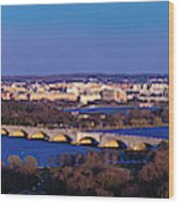 Arlington, Va - Wash D.c. - Panoramic Wood Print