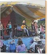 Arlo Guthrie And Family Wood Print