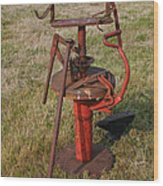 Arm Strong Tire Changer Wood Print