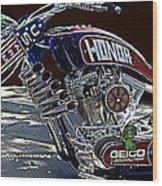 Armed Forces Tribute Bike Wood Print