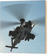 Armed Longbow Apache Helicopter In Wood Print