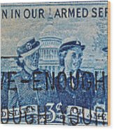 Armed Services Women Stamp Wood Print