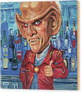 Armin Shimerman As Quark Wood Print by Art