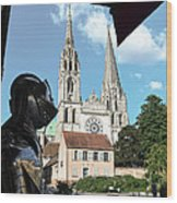 Armor And Chartres Cathedral Wood Print