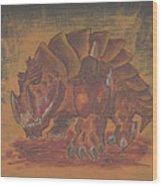 Armored Beast Wood Print