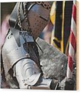 Armored Joust Knight Wood Print