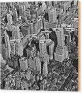 Army Air Corp Over Manhattan Wood Print