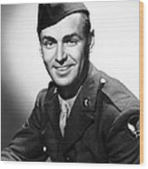 Army Air Force Corporal Alan Ladd, 1943 Wood Print