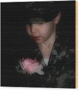 Army Boy Wood Print