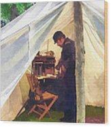 Army - Civil War Officer's Tent Wood Print