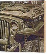 Army Mule  Wood Print