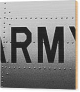 Army Strong Wood Print