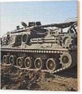 Army Tank Wood Print
