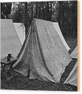 Army Tents Circa 1800s Wood Print