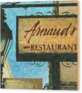 Arnauds New Orleans_oil Digital Art Wood Print