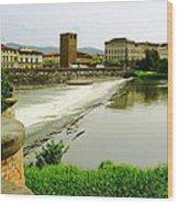 Arno River 1 Wood Print