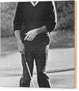 Arnold Palmer Misses A Putt Wood Print