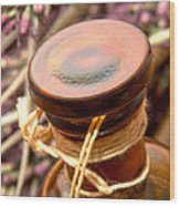 Aromatherapy Bottle Wood Print by Olivier Le Queinec