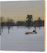 Aronimink Golf Club In The Snow Wood Print