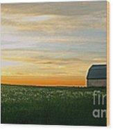 Aroostook Sunset Wood Print