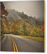Around The Bend Clouds Along The Blue Ridge Parkway Wood Print