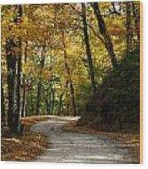 Around The Bend Wood Print