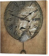 Around The Clock-time Is Flying Wood Print