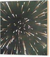 Around The Fourth Fireworks II Wood Print