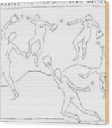 Around The Horn With Matisse: Matisse's Dancers Wood Print