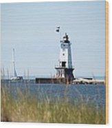 Around The Lighthouse Wood Print
