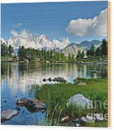 Arpy Lake - Aosta Valley Wood Print
