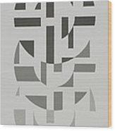 Arrangement in Gray #7 Wood Print