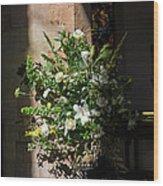 Arrangement Of White Flowers Wood Print