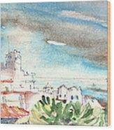 Arrecife In Lanzarote 10 Wood Print